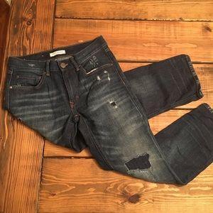 Banana Republic Patched Holes Boyfriend Jeans